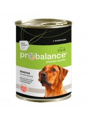 Probalance для собак консервы с ягненком, 850 гр.
