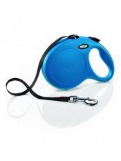 Flexi Рулетка-ремень для собак до 50кг, 8м, голубая (New Classic L Tape 8 m, blue) 10857.гол