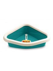 Stefanplast Туалет угловой Sprint Corner, с рамкой и совочком, аквамариновый, 40x56x14 см, 600 г артикул: 21413