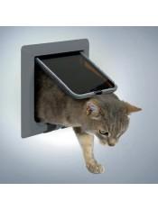 Дверца для кошки (15,8х14,7см), с 4 функциями, серый. 38642