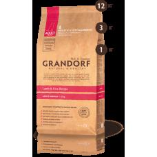 Grandorf корм для взрослых собак средних пород, ягнёнок с рисом, 3 кг.
