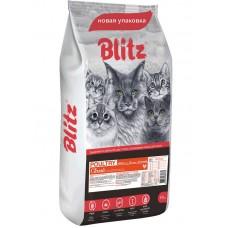 Blitz Adult Cat Poultry для кошек с домашней птицей, 10 кг