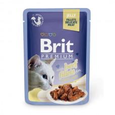 Brit Premium Кусочки из филе говядины в желе, паучи, 85 гр.