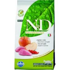 Фармина для кошек N&D, кабан-яблоко Adult 1,5кг