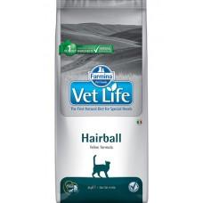 Farmina Vet Life Hairball, выведение шерстяных комочков, 2 кг.