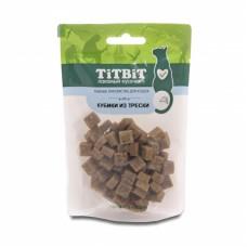 Титбит Лакомый кусочек для кошек Кубики из трески 60г