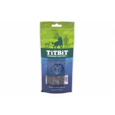 Титбит Лакомый кусочек для собак Нарезка из лосося для собак, 75 гр.
