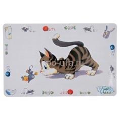 Коврик под миску Кошка 24544
