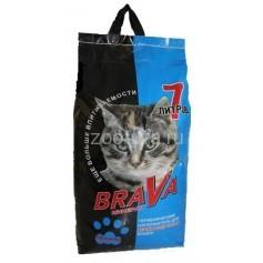 Brava Минерал для длинношерстных кошек, синий, 7лит.