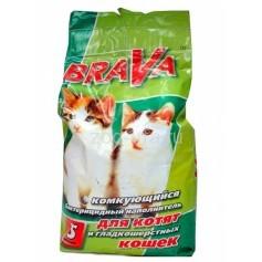 Брава комкующийся для короткошерстных кошек и котят, 5 лит.