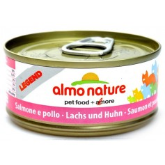 Almo Nature Консервы для кошек с лососем и курицей, Legend Adult Cat Salmon&Chicken, 70 гр. - артикул: 24261