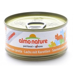 Almo Nature Консервы для кошек с лососем и морковью, 75% мяса , Legend Adult Cat Salmon&Carrot, 70 гр. - артикул: 26499