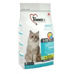 """1st Choice для кошек """"Здоровая кожа и шерсть"""" с лососем, 5,44 кг."""