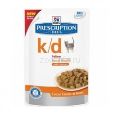 Hill's паучи для кошек  K/D, с курицей, 85 гр.