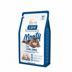Brit Care Cat Monty Indoor для кошек живущих в квартире, 2 кг.