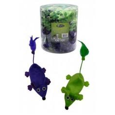 Плюшевые мышки, зеленые и фиолетовые