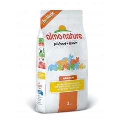 Almo Nature для взрослых кошек с курицей и коричневым рисом, 2 кг.