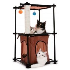 """Kitty City Игровой комплекс с когтеточкой для кошек """"Биг Бен"""", 79x45x45 см, сизаль, арт. 23057"""