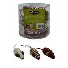 Мышонок коричневый, с погремушкой, сизаль, 5 см