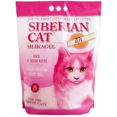 Сибирская кошка силикагель, для привередливых, розовые гранулы, 16 лит.