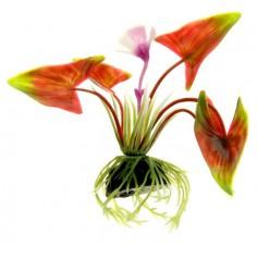 """Растение пластиковое """"Стрелолист"""" красно-зеленый, 10 см."""