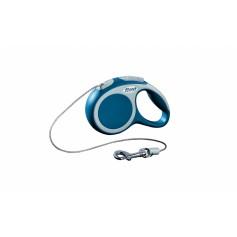 flexi Рулетка-трос для собак до 8кг, 3м, голубая, VARIO XS cord 3m blue, артикул: 19254