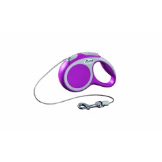 flexi Рулетка-трос для собак до 20кг, 5м, розовая, VARIO M cord 5m pink, артикул: 19256