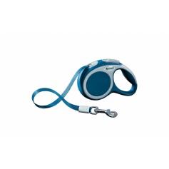 flexi Рулетка-ремень для собак до 12кг, 3м, голубая, VARIO XS tape 3m blue, артикул: 19259