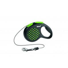 Flexi Рулетка-трос для собак до 8 кг, 3 м, зеленая, Design XS Cord 3 m, green, арт. 10841. зел.