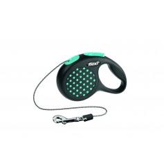 Flexi Рулетка-трос для собак до 8 кг, 3 м, голубая , Design XS Cord 3 m, blue, арт. 10841. син.