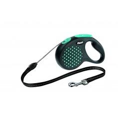 Flexi Рулетка-трос для собак до 12 кг, 5 м, голубая, Design S Cord 5 m, blue арт. 10842.син