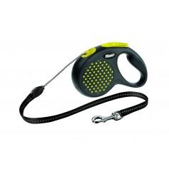 Flexi  Рулетка-трос для собак до 20 кг, 5 м, желтая, Design M Cord 5 m, yellow арт. 10843.жел