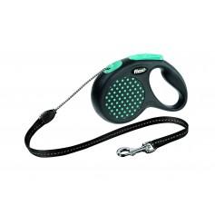 Flexi  Рулетка-трос для собак до 20 кг, 5 м, голубая , Design M Cord 5 m, blue арт. 10843.син