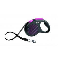 Flexi Рулетка-ремень для собак до 15 кг, 5 м, розовая, Design S Tape 5 m, pink, арт. 10844.роз