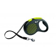 Flexi Рулетка-ремень для собак до 15 кг, 5 м, желтая, Design S Tape 5 m, yellow, арт. 10844.жел
