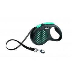 Flexi Рулетка-ремень для собак до 15 кг, 5 м, голубая , Design S Tape 5 m, blue, арт. 10844.син