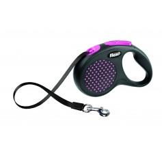 Flexi Рулетка-ремень для собак до 50 кг, 5 м, розовая, Design M-L Tape 5 m, pink, арт. 10845.роз