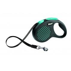 Flexi Рулетка-ремень для собак до 50 кг, 5 м, голубая , Design M-L Tape 5 m, blue, арт. 10845.син