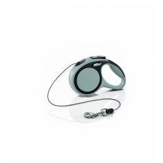 Flexi Рулетка-трос для собак до 8кг, 3м, серая, New Comfort XS Cord 3 m, grey 10847.сер