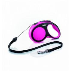 Flexi Рулетка-трос для собак до 12кг, 8м, розовая, New Comfort S Cord 8 m, pink арт. 10849.роз
