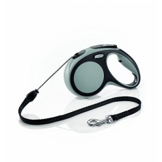 Flexi Рулетка-трос для собак до 20кг, 5м, серая, New Comfort M Cord 5 m, grey арт. 10850.сер