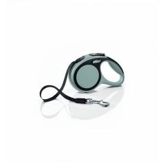 Flexi Рулетка-ремень для собак до 12кг, 3м, серая, New Comfort XS Tape 3 m, grey, арт. 10852.сер