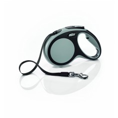 Flexi Рулетка-ремень для собак до 25 кг, 5м, серая, New Comfort M Tape 5 m, grey, арт. 10854.сер