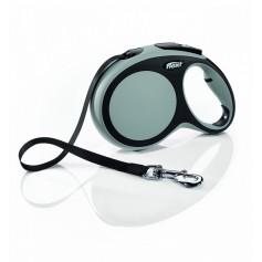 Flexi Рулетка-ремень для собак до 50кг, 8м, серая, New Comfort L Tape 8 m, grey, арт. 10856.сер
