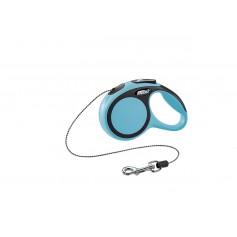 Flexi Рулетка-трос для собак до 8кг, 3м, голубая, New Comfort XS Cord 3 m, blue 10847.син