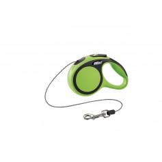 Flexi Рулетка-трос для собак до 8кг, 3м, зеленая, New Comfort XS Cord 3 m, green 10847.зел