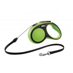 Flexi Рулетка-трос для собак до 12кг, 5м, зеленая, New Comfort S Cord 5 m, green, арт. 10848.зел