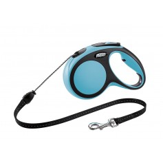 Flexi Рулетка-трос для собак до 20кг, 5м, голубая, New Comfort M Cord 5 m, blue  арт. 10850.син