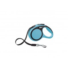 Flexi Рулетка-ремень для собак до 12кг, 3м, голубая, New Comfort XS Tape 3 m, blue, арт. 10852.син