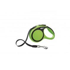 Flexi Рулетка-ремень для собак до 12кг, 3м, зеленая, New Comfort XS Tape 3 m, green, арт. 10852.зелен.
